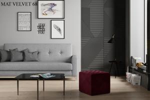 Taburet NOLLA 40 x 40 x 41 cm Provedení: Mat Velvet 68