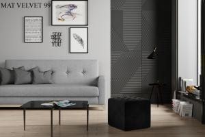 Taburet NOLLA 40 x 40 x 41 cm Provedení: Mat Velvet 99