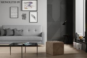 Taburet NOLLA 40 x 40 x 41 cm Provedení: Monolith 09