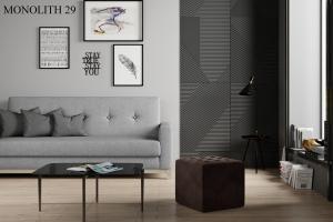 Taburet NOLLA 40 x 40 x 41 cm Provedení: Monolith 29