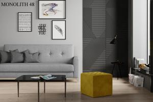 Taburet NOLLA 40 x 40 x 41 cm Provedení: Monolith 48