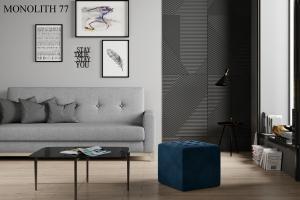 Taburet NOLLA 40 x 40 x 41 cm Provedení: Monolith 77
