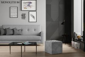 Taburet NOLLA 40 x 40 x 41 cm Provedení: Monolith 84