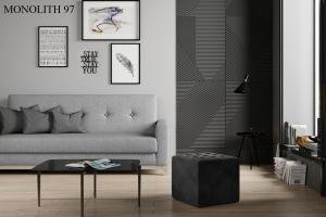 Taburet NOLLA 40 x 40 x 41 cm Provedení: Monolith 97