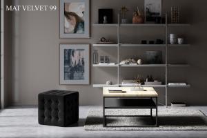 Taburet SOFIA, 45 x 45 x 40 cm Provedení: Mat Velvet 99