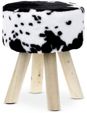 TABURETKA, drevo, textil, 29/35 cm