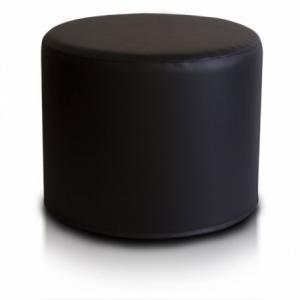 Ecopuf Taburetka ECOPUF - ROLLER - ekokoža E14 - Čierna