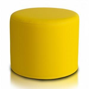 Ecopuf Taburetka ECOPUF - ROLLER - ekokoža E18 - Žltá