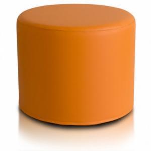 Ecopuf Taburetka ECOPUF - ROLLER - ekokoža E4 - Oranžová