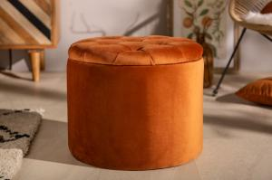 Taburetka Modern Barock 50cm oranžový zamat