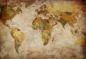Tapeta Stará mapa sveta 29162 - vliesová