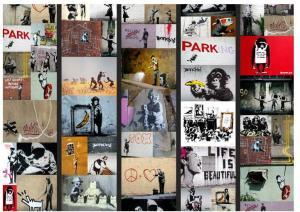 Tapeta v rolke Bimago Banksy, 0,5×10m