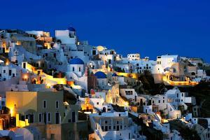 Tapety Miest - Santoryn Grécko 3342 - vliesová