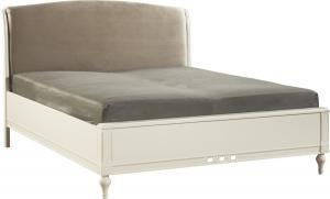 TARANKO Florencja FL-2 160 manželská posteľ vanilka / svetlohnedá (Velvet-B1 106)