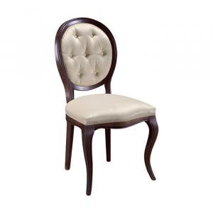 TARANKO Krzeslo S1 rustikálna jedálenská stolička hnedá / béžová (B3 5058)
