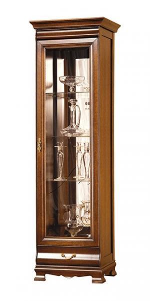 TARANKO Neptun N-W 43132 P rustikálna vitrína s osvetlením nový orech