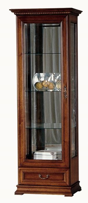 TARANKO Raweno R-W1/2 L rustikálna vitrína s osvetlením toffi