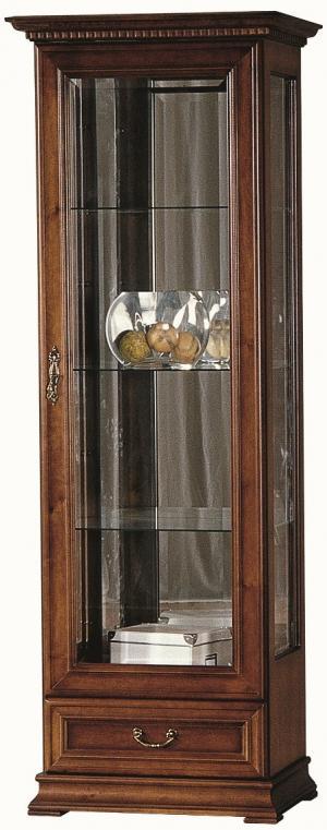 TARANKO Raweno R-W1/2 P rustikálna vitrína s osvetlením toffi