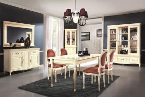 TARANKO Verona T rustikálny rozkladací jedálenský stôl krém patyna