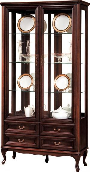TARANKO Wersal W-W2 rustikálna vitrína wenge