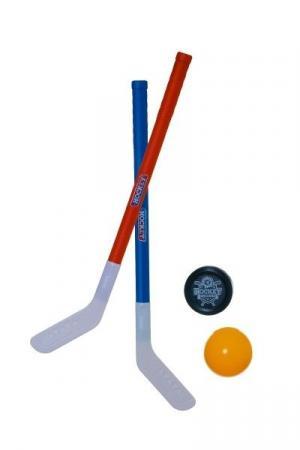 Teddies Hokejka pozemní 2ks plast 72cm + florbalový míček + puk