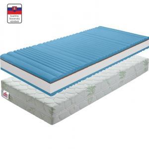 KONDELA BE Silverhard obojstranný penový matrac 120x200 cm PUR pena / kokosová doska / látka