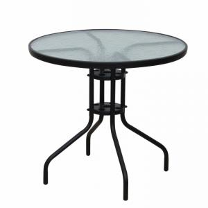 KONDELA Borgen Typ 2 záhradný stolík čierna