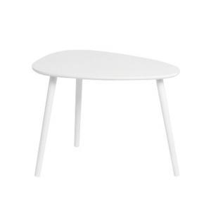 KONDELA Danz príručný stolík biela