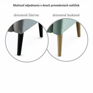 Tempo Kondela Dizajnové kreslo, látka, capuccino/vzor, BELEK