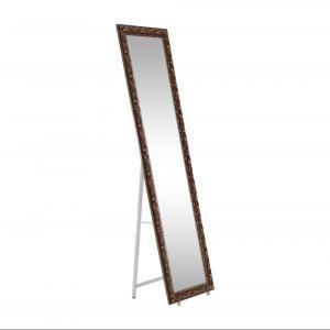 Kondela Dizajnové zrkadlo, PANTOS, hnedá
