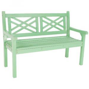 Tempo Kondela, FABLA, Drevená záhradná lavička, neo mint, 124 cm