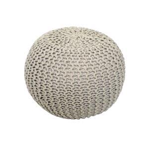 TEMPO KONDELA Gobi Typ 1 pletená taburetka krémová