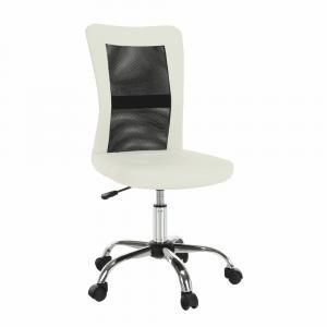 KONDELA Idor New kancelárske kreslo čierna / biela