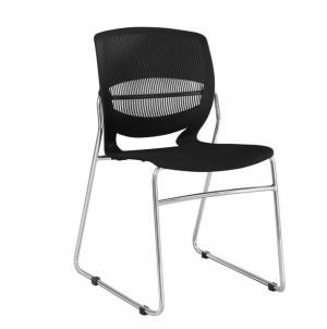 Kancelárska stolička, plast+kov, čierna, IMENA