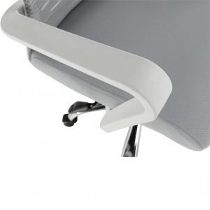 Kancelárske kreslo, biela/sivá, CAGE