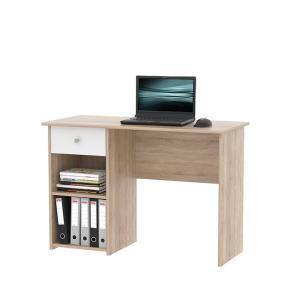 TEMPO KONDELA Karlis pc stôl dub sonoma / biela