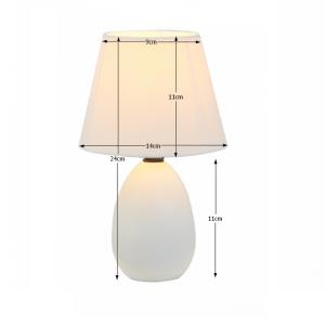 Tempo Kondela Keramická stolná lampa, biela, QENNY TYP 12 AT09350