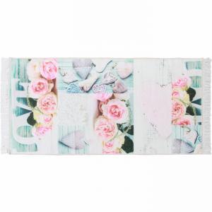 Tempo Kondela, Koberec, SONIL TYP 2, vzor ruže, viacfarebný, 80x150