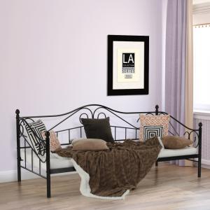 Tempo Kondela Kovová posteľ, čierna, 90x200, DAINA
