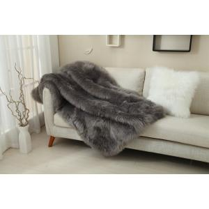 Kondela Kožušinová deka, EBONA TYP 5, sivá, 150x180