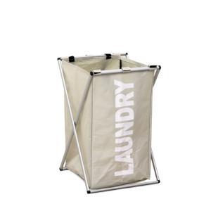 Tempo Kondela  LAUNDRY TYP 1, Látkový kôš na prádlo, sivobéžová