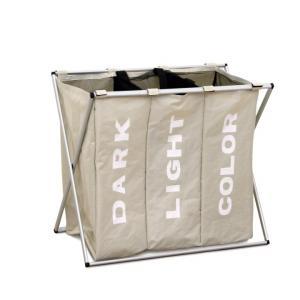 KONDELA Laundry Typ 3 kôš na prádlo sivobéžová