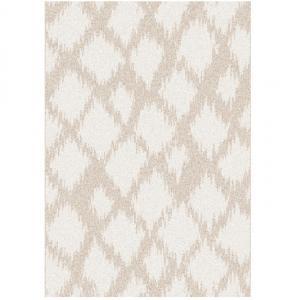 TEMPO KONDELA Libar koberec 133x190 cm krémová / biela