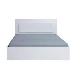 Tempo Kondela Manželská posteľ, 160x200, biela/ vysoký biely lesk HG, ASIENA