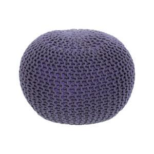 Tempo Kondela, Pletený taburet, GOBI TYP 2, fialová bavlna