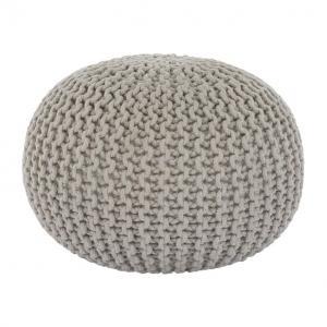 Kondela Pletený taburet, GOBI TYP 2, krémová bavlna