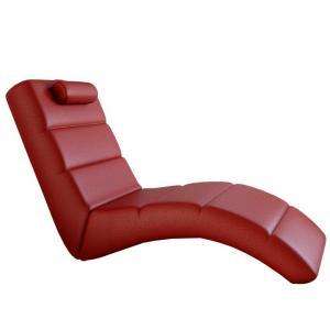 Tempo Kondela Relaxačné kreslo, ekokoža červená, LONG