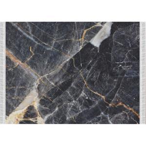 KONDELA Renox Typ 1 koberec čierny mramor