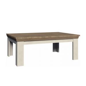 TEMPO KONDELA Royal LN2 konferenčný stolík biela sosna nordická / dub divoký