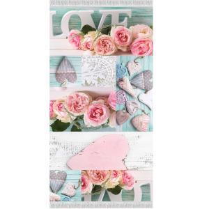 KONDELA Sonil Typ 2 koberec 120x180 cm kombinácia farieb / vzor ruže